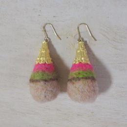 wool drop earrings