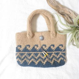 WAVE bag 【navy × natural】