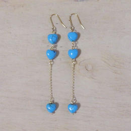 heart long earrings