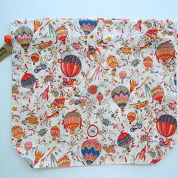 リバティトラベル巾着・スカイハイ(気球柄)(お客様レビューあり)