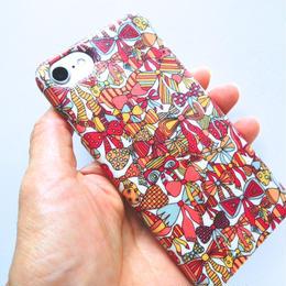 iPhone7ケース/ジェニーズリボンズ・サーモンピンク