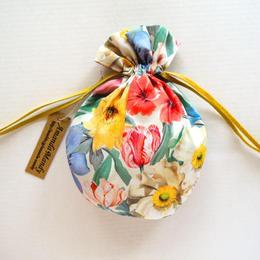 リバティキャンディ巾着・メドウメロディスモール ホワイト
