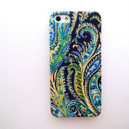 iPhoneSE/5sケース/リバティ・フェリックス&イザベラ・ターコイズ