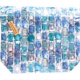 リバティトラベル巾着・イアンローズ・ブルー
