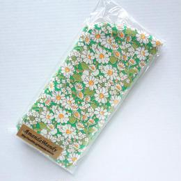 リバティメガネケース・アリス(小花)グリーン