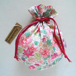 リバティキャンディ巾着・アロハベッツィ・ペールピンク