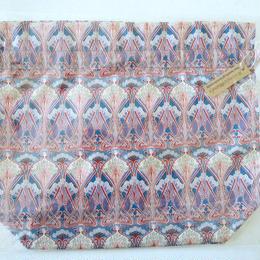 リバティトラベル巾着 アイアンシ ブラウンパープル系