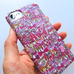 iPhone7ケース/ジェニーズリボンズ・ピンク