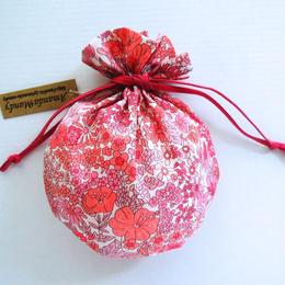 リバティキャンディ巾着・マーガレットアニー・ピンク単色