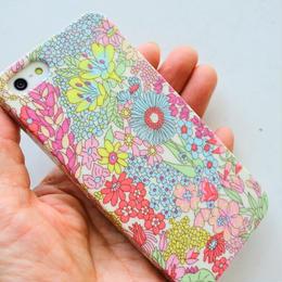 iPhoneSE/5sケース/リバティ・マーガレットアニー・ペールピンク