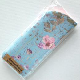 リバティメガネケース・イルマ(70%縮小サイズ)・水色