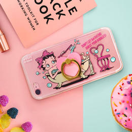 【iPhone7/8専用】クリアジャケット&リング≪バスタイム/ベティ≫