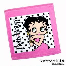 Betty Boop プリント ウォッシュタオル(2カラー)