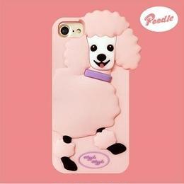 "【Wiggle Wiggle】スマホカバー""Poodle""【iPhone8/7/6s/6対応】"