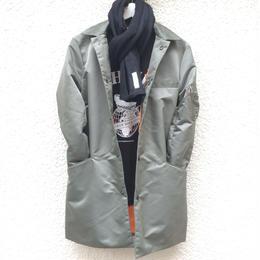 amc 高密度ナイロンツイル ステンカラーコート¥19000