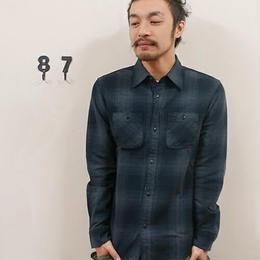 amc オンブレヘヴィーチェックネルシャツ 4色¥5900