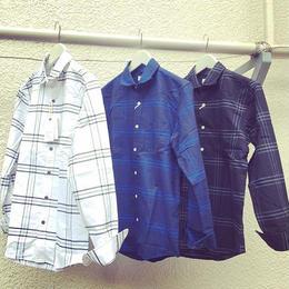 sale !amc ox 先染め ホリゾンタルカラーシャツ¥5900