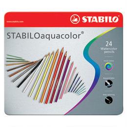 STABILO 水彩色鉛筆アクアカラー(24色)