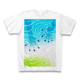 Ripple-hands(ミント)Tシャツ白