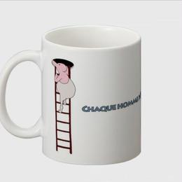 Monsieur différente デッサン(A)マグカップ -bakikeda-
