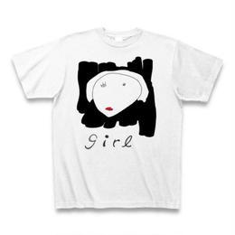 girl #1 Tシャツ(ホワイト) -bakikeda-