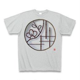 Tシャツ・丸窓(梅)グレー
