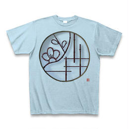 Tシャツ・丸窓(梅)ライトブルー