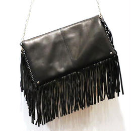 Fringe Clutch [Nile Black]