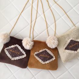 cushion pochette(brown/camel/cream)