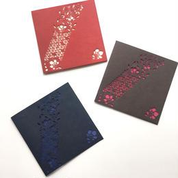 切り絵カード《花菱唐花》