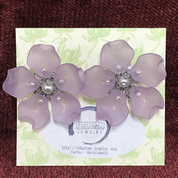 Phantom Jewelry/ファントムジュエリー 夜桜のピアス シルバー