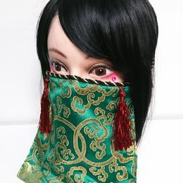 アルマジ製作所/アルマジオリジナル アルマジマスク(緑×赤タッセル)GD