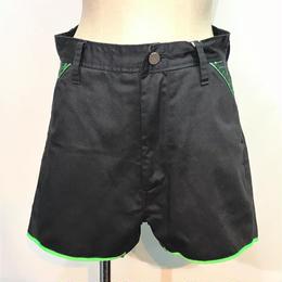 D/3/ディースリー ショートパンツ 黒×緑