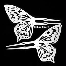 琴子/ことこ 退廃蝶の透かし簪  2本セット