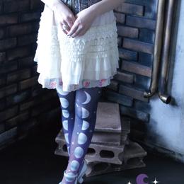 こまぎれ 月の満ち欠けタイツ(紫)