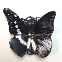 GHOTHIC HOLIC/ゴシックホリック 舞い踊る蝶々クリップ 中/黒 193