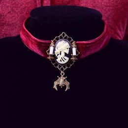 Phantom Jewelry/ファントムジュエリー 骸骨婦人カメオとコウモリのチョーカー