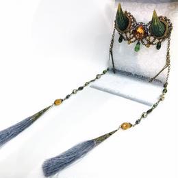 estrelleas/エストレージャス  百鬼祭鬼角頭上装飾 装飾ツノ 緑 T001