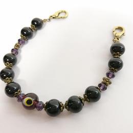 Phantom Jewelry/ファントムジュエリー 化け物の棲む羽織紐(黒パール×紫)
