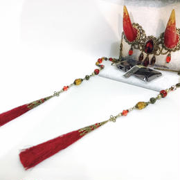 estrelleas/エストレージャス  百鬼祭鬼角頭上装飾 装飾ツノ 赤 T001