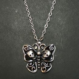 琴子/ことこ 髑髏蝶ネックレス