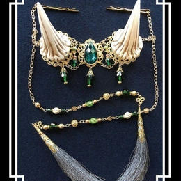 estrelleas/エストレージャス  百鬼祭鬼角頭上装飾 装飾ツノ 白系