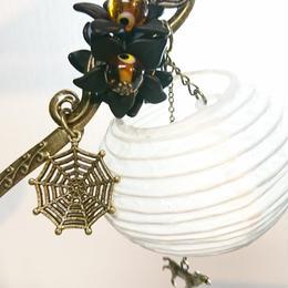 Phantom Jewelry/ファントムジュエリー 狐と提灯の簪(目玉:茶)