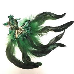 N0.96/ナンバークロ 金魚の髪飾り 緑 AM-2