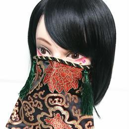 アルマジ製作所/アルマジオリジナル アルマジマスク(黒金×緑タッセル)GD