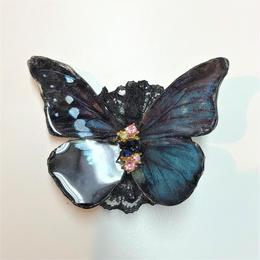GOTHIC HOLIC/ゴシックホリック 舞い踊る蝶々クリップ 中 黒碧 192