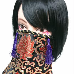 アルマジ製作所/アルマジオリジナル アルマジマスク(黒金×紫タッセル)GD
