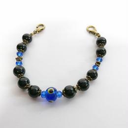 Phantom Jewelry/ファントムジュエリー 化け物の棲む羽織紐(黒パール×青)