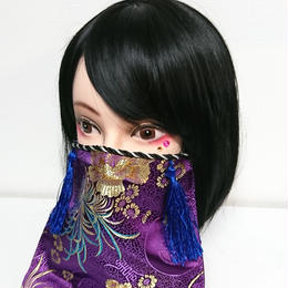 アルマジ製作所/アルマジオリジナル アルマジマスク(紫×青タッセル)