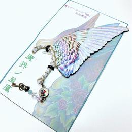 魔界ノ風鷹/マカイノカゼタカ イラスト翼のイヤーフック 白 K2